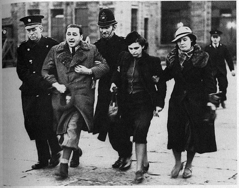 Jewish refugees arrested at Croydon, March 1939