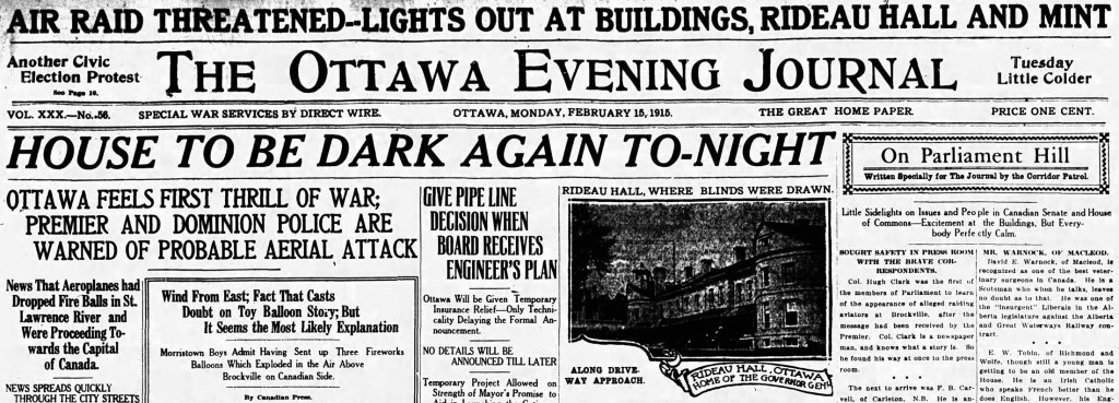 Ottawa Evening Journal, 15 February 1915, 1