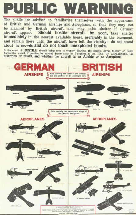 Aircraft recognition poster, c. 1914