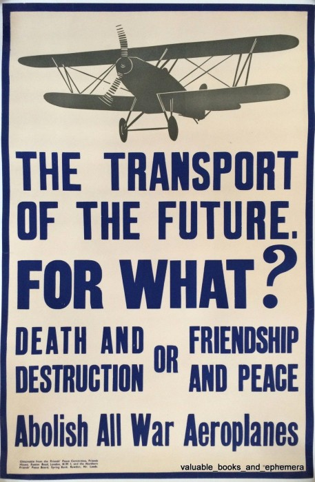 Abolish all war aeroplanes