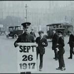 The policeman's placard
