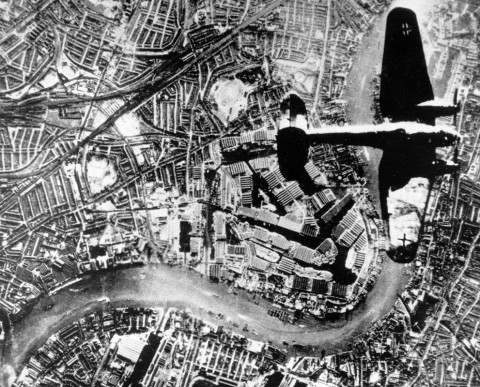 He 111 over London