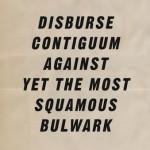 Keep calm and disburse contiguum