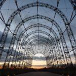 The portable airship hangar at Farnborough