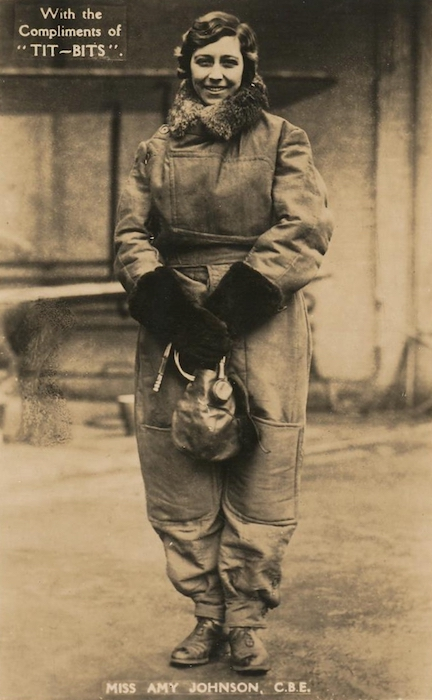 Postcard of Amy Johnson c. 1930